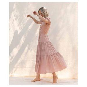 NWOT Christy Dawn Augusta Wrap dress in blush M